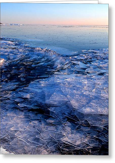 Greeting Card featuring the photograph  Superior Winter   by Doug Gibbons