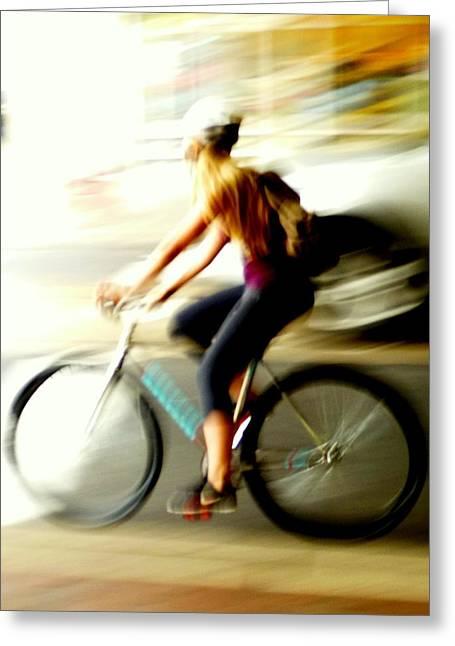 Surreal Biker Greeting Card