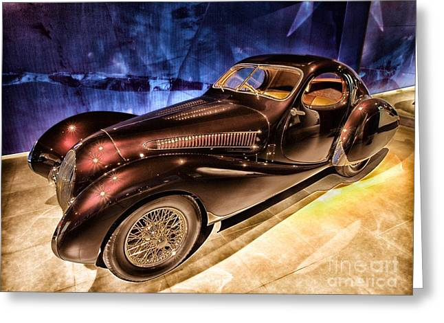 Greeting Card featuring the photograph  Talbot Lago 1937 Car Automobile Hdr Vehicle  by Paul Fearn