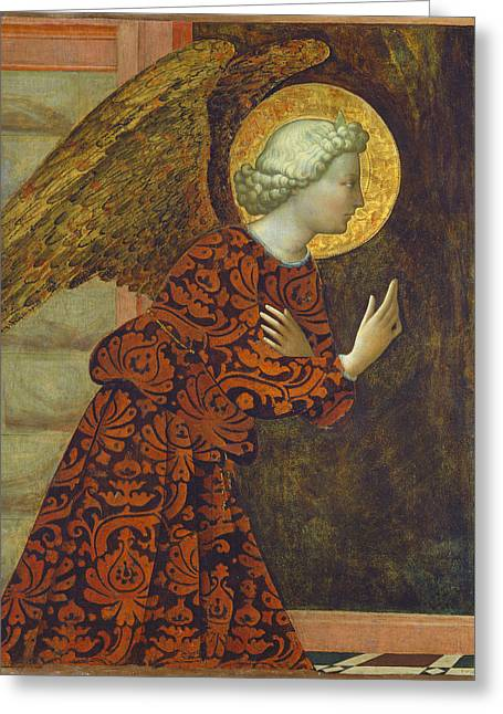 The Archangel Gabriel Greeting Card by Tommaso Masolino da Panicale