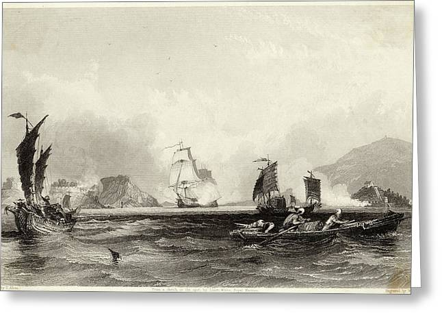 The British Fleet Forces A  Passage Greeting Card by Mary Evans Picture Library