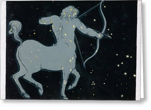 The Constellation Of  Sagittarius Greeting Card by Mary Evans Picture Library