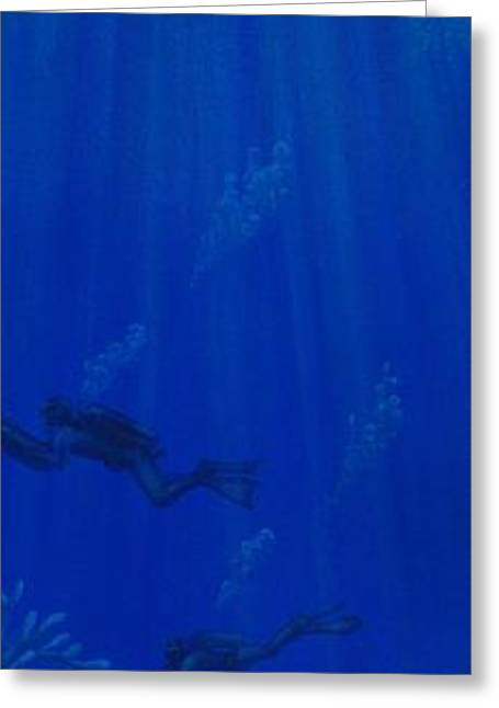 The Dive Greeting Card by J Barth