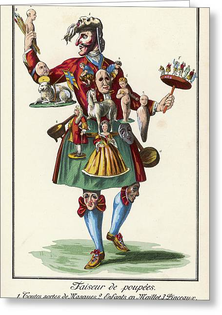 The Doll-maker Sells His Wares Greeting Card