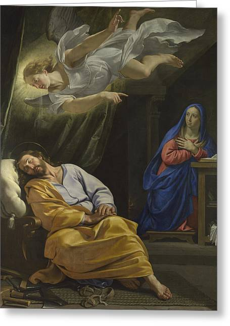 The Dream Of Saint Joseph Greeting Card