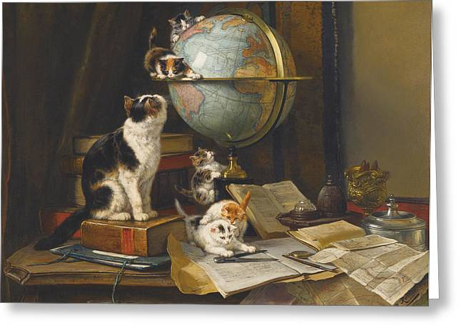 The Globetrotters Greeting Card by Henriette Ronner