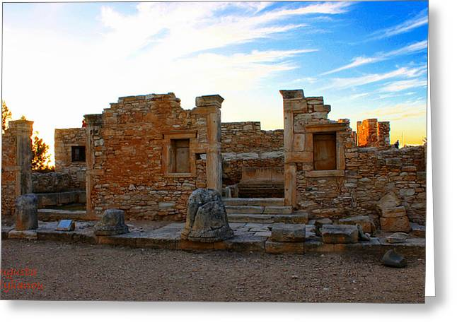 The Palaestra - Kourion-apollon Greeting Card by Augusta Stylianou
