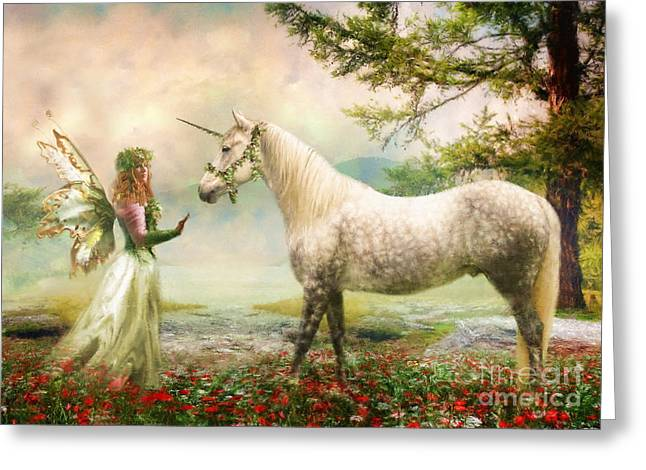 Greeting Card featuring the photograph  The Unicorn Fairy by Trudi Simmonds