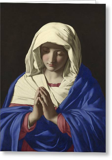 The Virgin In Prayer Greeting Card by Sassoferrato