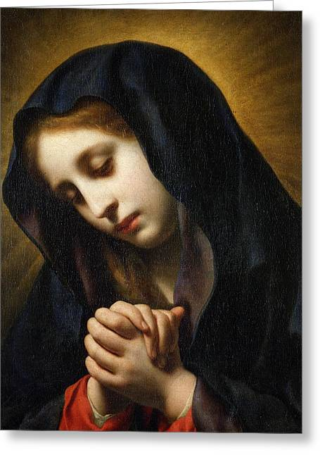 The Virgin Of The Annunciation Greeting Card by Carlo Dolci