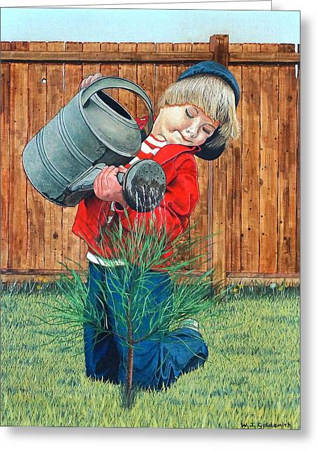 The Young Arborist Greeting Card