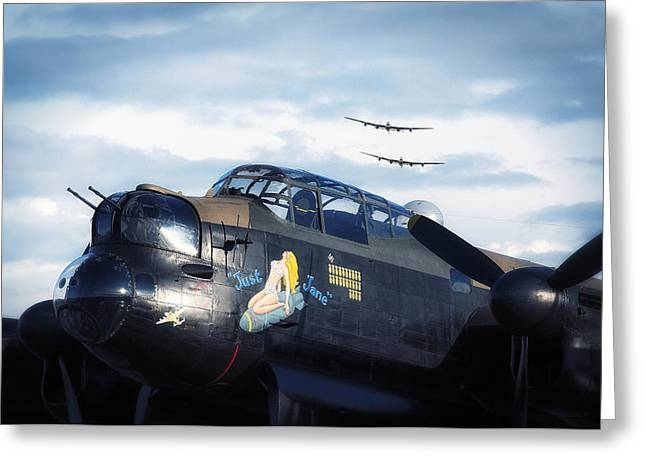 Three Lancasters Greeting Card