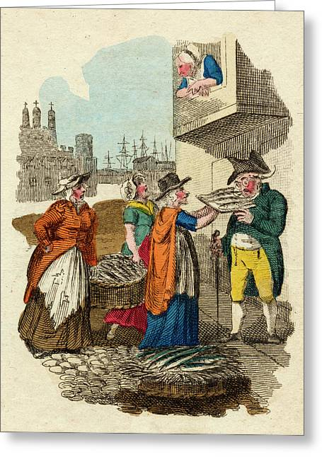 Three Women Street Traders  Selling Greeting Card