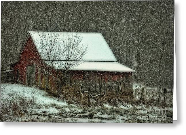 Greeting Card featuring the photograph  Tiny Stable by Brenda Bostic