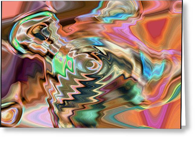 Total Discombobulation From     U Refuse To Consider My Point V 6 Greeting Card by Kenneth James