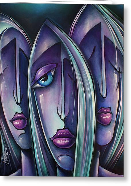' Trio ' Greeting Card by Michael Lang