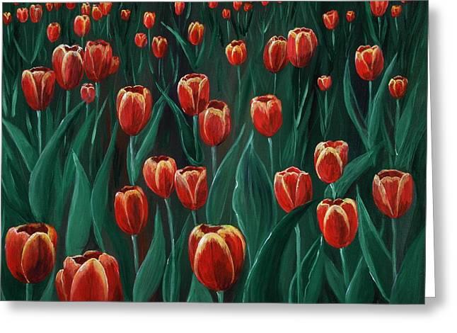 Tulip Festival Greeting Card by Anastasiya Malakhova