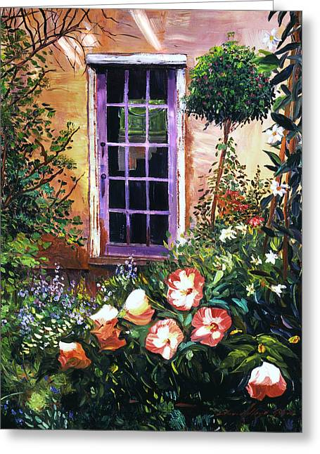 Tuscan Villa Garden Greeting Card by David Lloyd Glover