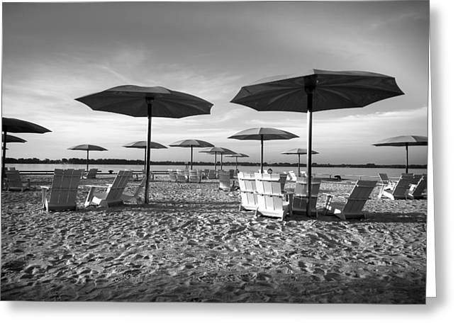 Umbrellas On The Beach Greeting Card