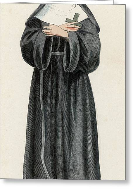 Ursuline Nun Devoted To Saint Ursula Greeting Card by Mary Evans Picture Library
