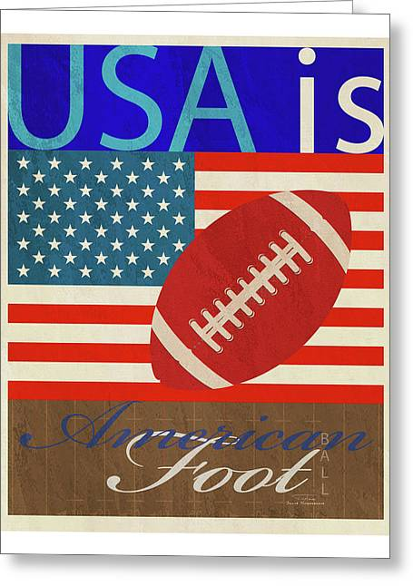 Usa Is American Football Greeting Card