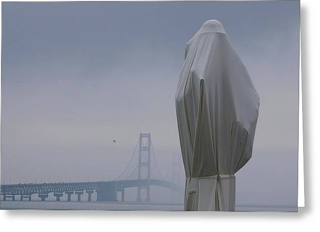 Greeting Card featuring the photograph  Veil Monument by Randy Pollard