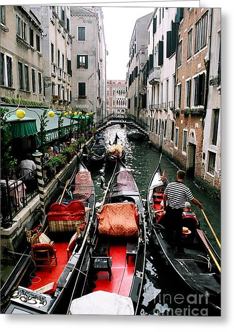 Venice Canal Greeting Card by Sandy MacNeil