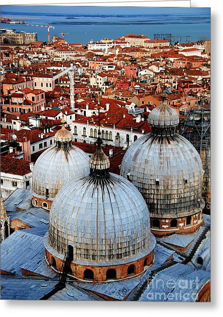 Venice In Glory - Vertical Greeting Card by Jacqueline M Lewis