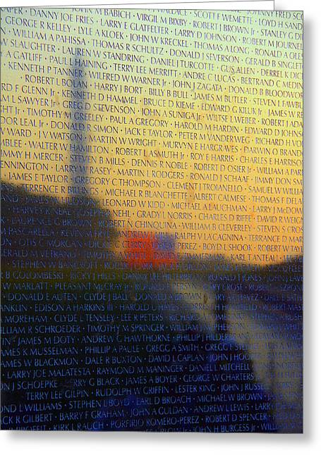 Vietnam Veterans Memorial Greeting Card by Mitch Cat