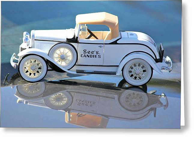 Greeting Card featuring the photograph  Vintage Car by Lorna Maza