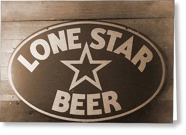 Vintage Sign Lone Star Beer Greeting Card
