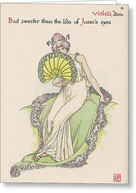 Violet Personified         Date 1906 Greeting Card