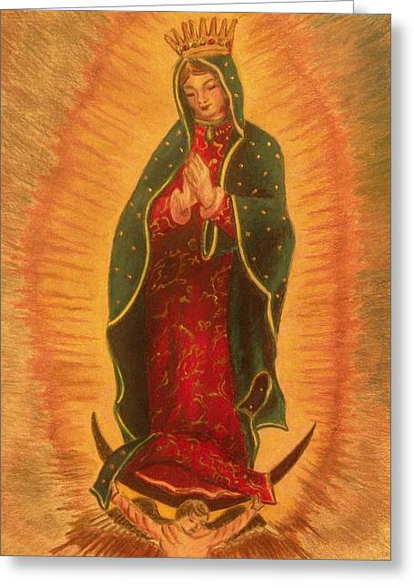 Virgen  De  Guadalupe Greeting Card