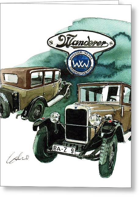 Wanderer 8 40hp Greeting Card