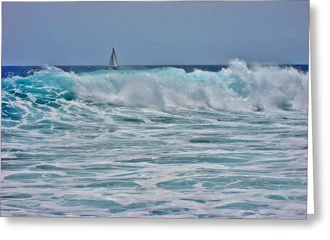 Wave And Sail. Greeting Card