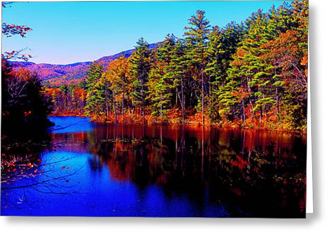 White Mountians National Park Red Eagle Pond New Hampshire Greeting Card