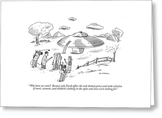 Why Have We Come?  Because Only Earth Offers Greeting Card by Michael Maslin