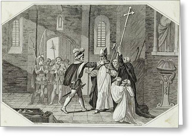 William I Arrests Odo, Bishop Greeting Card by Mary Evans Picture Library