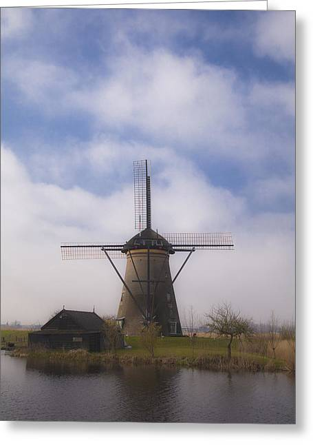 Windmill In Kinderdijk Netherlands Greeting Card