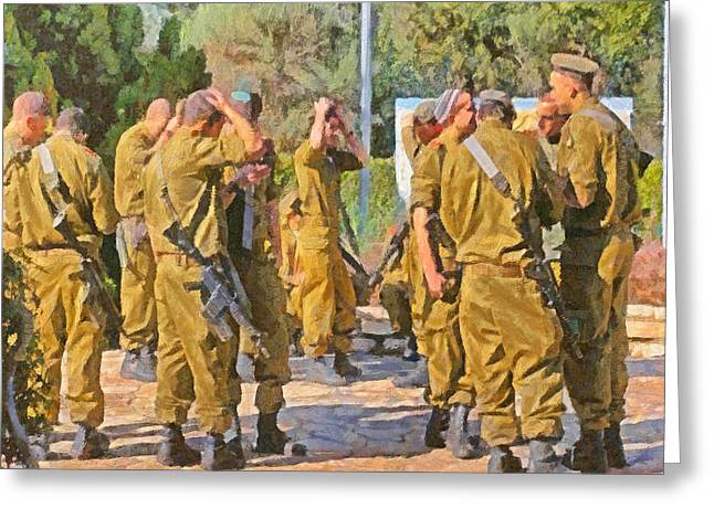 Yarmulkes And Rifles Greeting Card