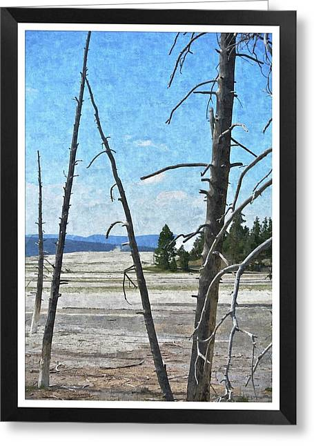 Yellowstone Park Greeting Card by Larry Stolle
