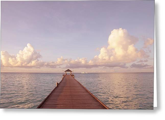 Zen Retreat. Brand New World Greeting Card by Jenny Rainbow