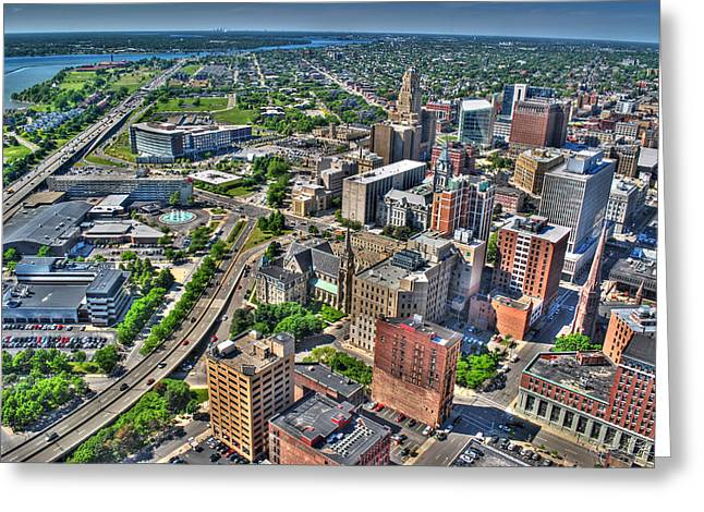 0013 Visual Highs Of The Queen City Greeting Card