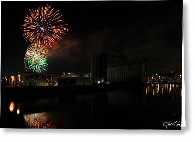 0020 ...the Bombs Bursting In Air...4jul13 Series Greeting Card by Michael Frank Jr