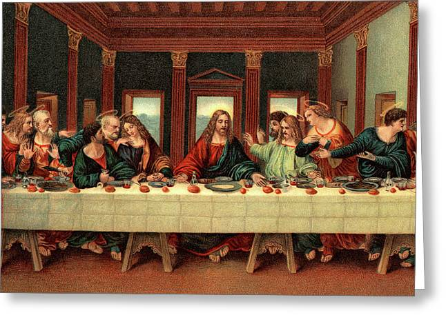 0030s The Last Supper After Leonardo Da Greeting Card