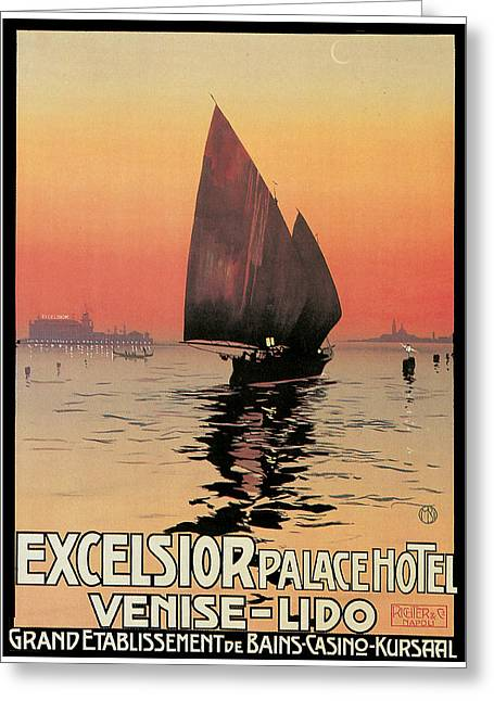 Excelsior Palace Hotel Greeting Card