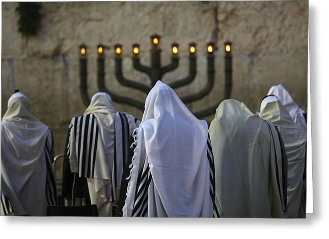 007 Jerusalem Greeting Card by Alex Kolomoisky