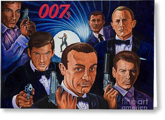 007 Greeting Card by Michael Frank