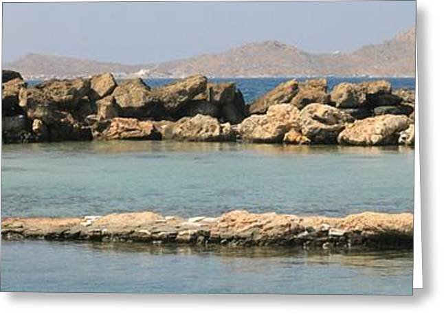 0084236 - Paros - Naousa Greeting Card by Costas Aggelakis