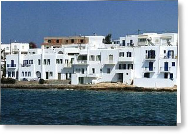0084302 - Paros - Naousa Greeting Card by Costas Aggelakis